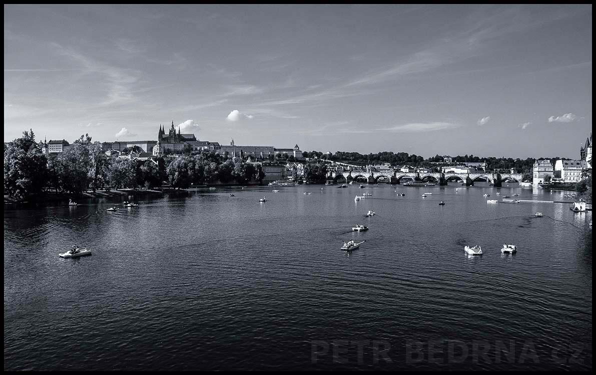 Pražský hrad, Karlův most, Praha, 2015, Střelecký ostrov, lodičky