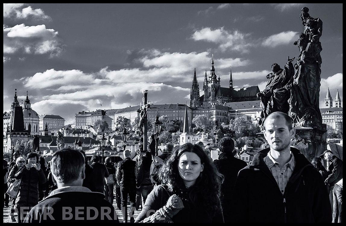 Pražský hrad, Madona, Kalvárie sv. Kříž, Karlův most, 2013, Sv. Dominik a Tomáš Akvinský, na mostě, Praha