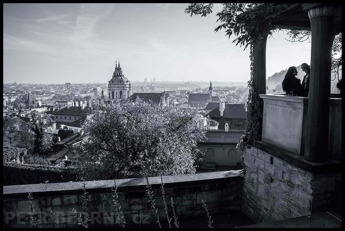 Malý Belvedér, Hartigovská zahrada, Pražský hrad, 2015, Panorama, Praha