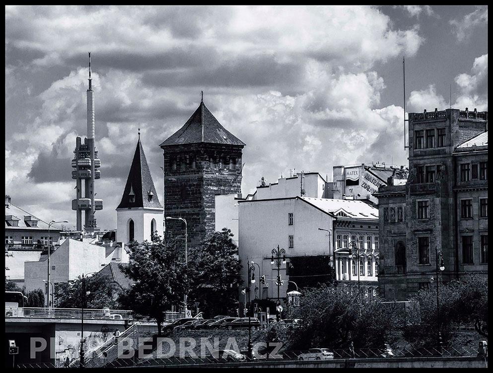 Novomlýnská vodárenská věž, ulice Revoluční, 2014, Kostel sv. Klimenta, Praha