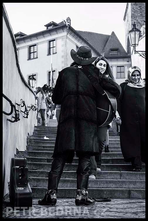 Staré zámecké schody, 2015, Busking, Praha(1)