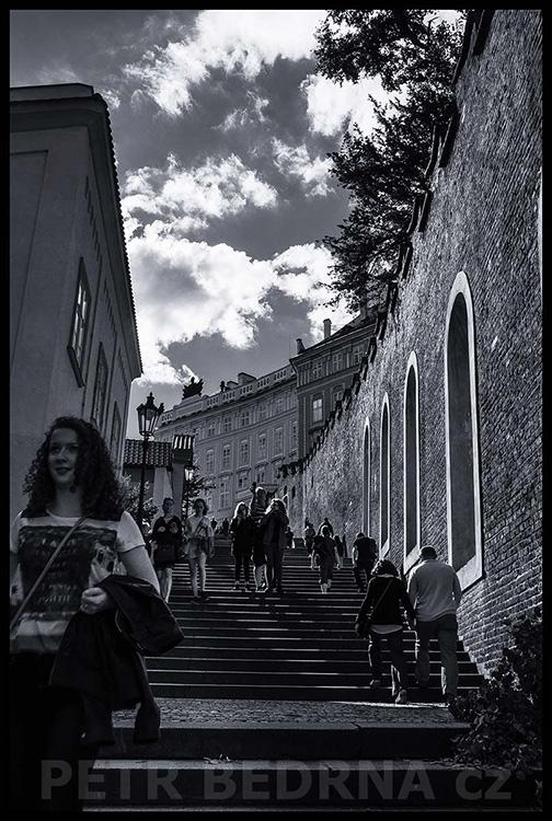 Zámecké schody, Malá Strana, 2017, Praha
